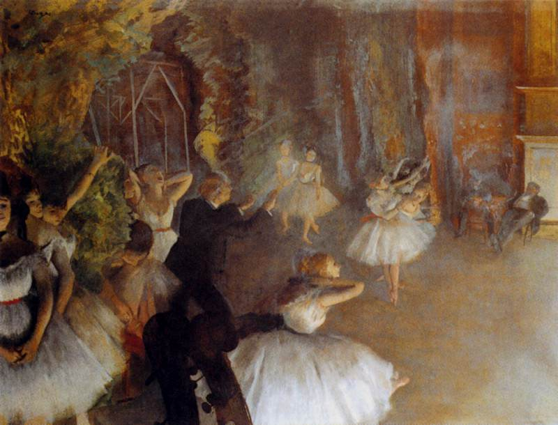 The Rehearsal Of The Ballet. Edgar Degas