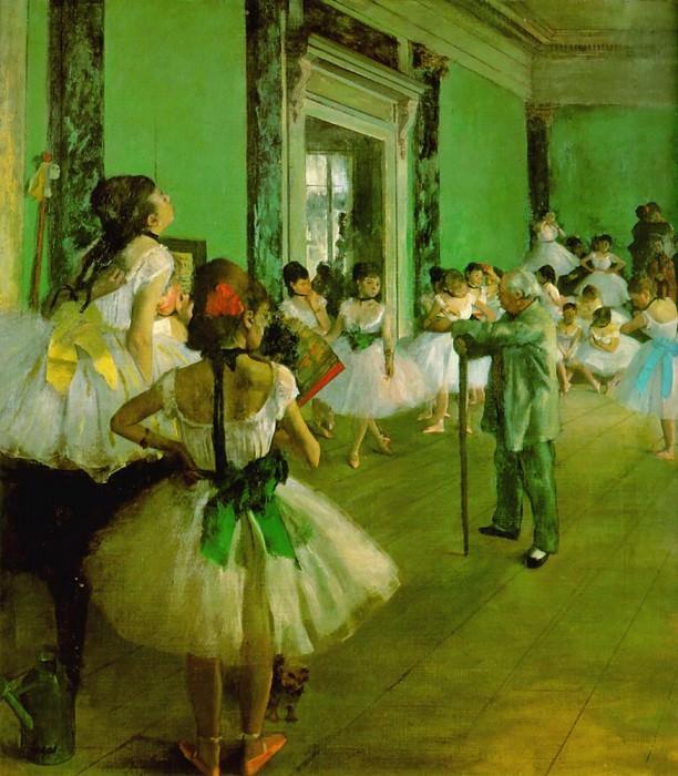 Dance Class. Edgar Degas