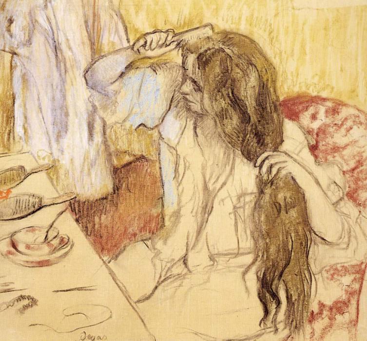 Woman At Her Toilet. Edgar Degas