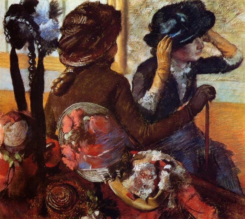 At the Milliner's 2. Edgar Degas