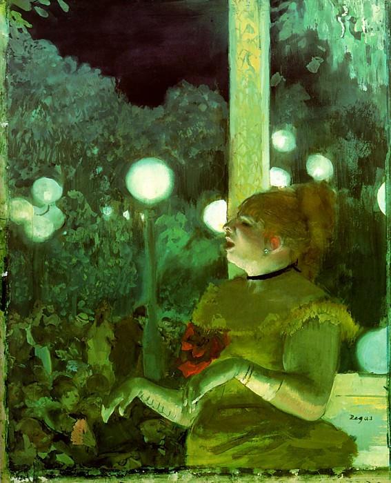 cafe concert. Edgar Degas