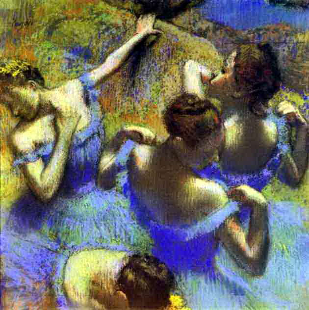 Голубые танцовщицы. Эдгар Дега