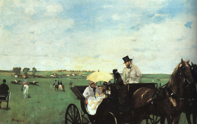 At the Races in the Country CGF. Edgar Degas
