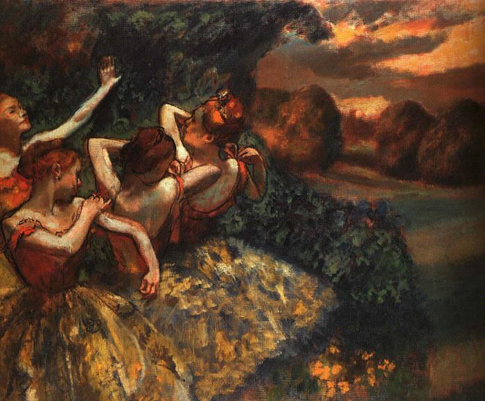 Четыре танцовщицы. Эдгар Дега
