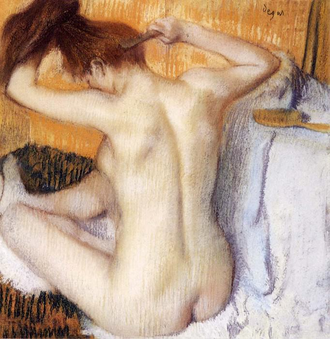 Woman Combing Her Hair. Edgar Degas