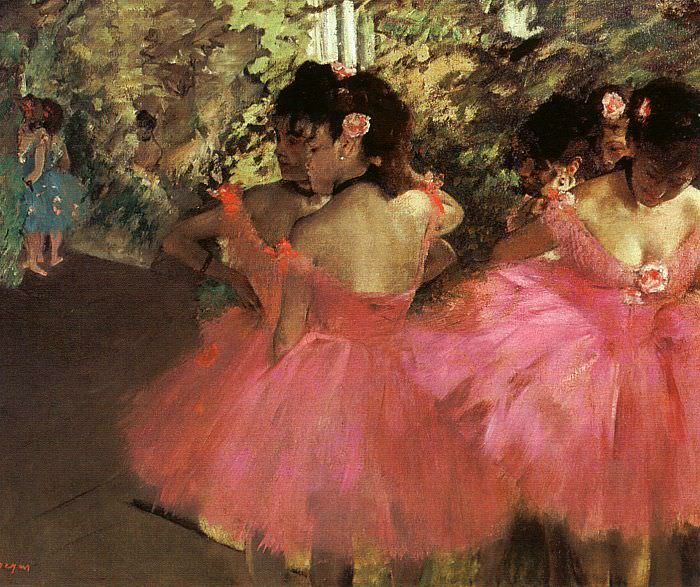 Dancers in Pink. Edgar Degas