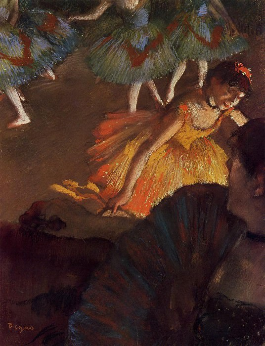 Ballerina and Lady with a Fan. Edgar Degas