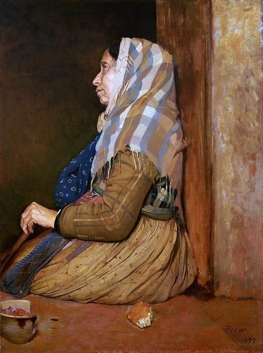 A Roman Beggar Woman. Edgar Degas