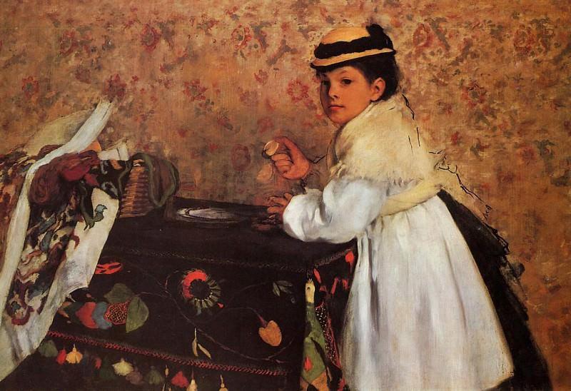 Hortense Valpin. Edgar Degas