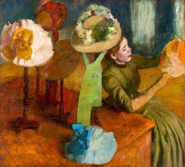The Millinery Shop. Edgar Degas