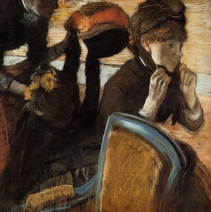 At the Milliner's 3. Edgar Degas