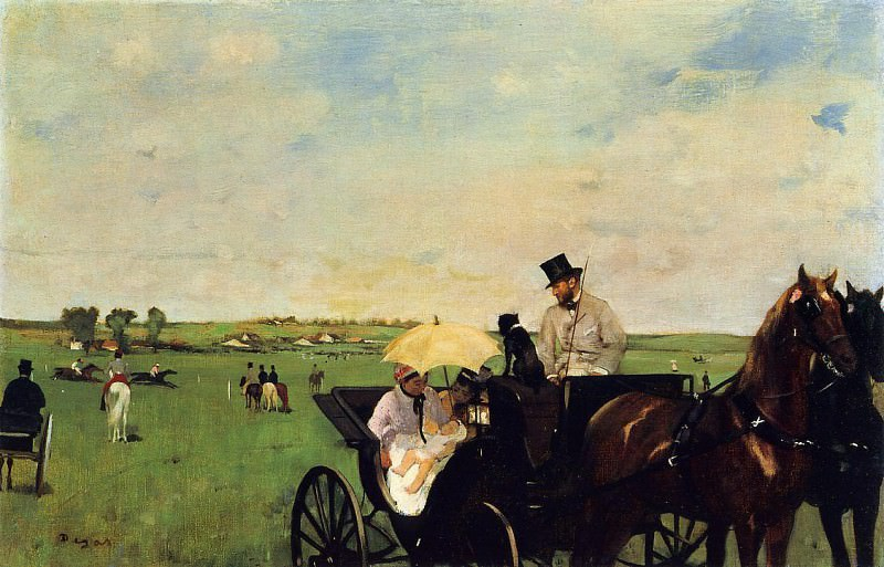 A Carriage at the Races. Edgar Degas