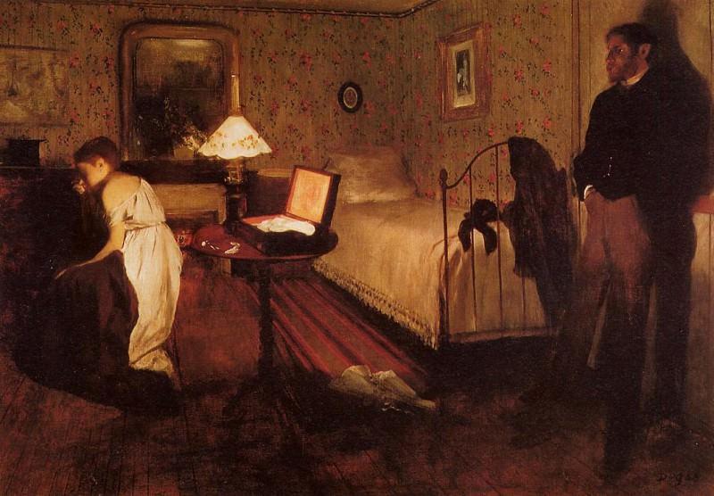 Interior aka The Rape. Edgar Degas