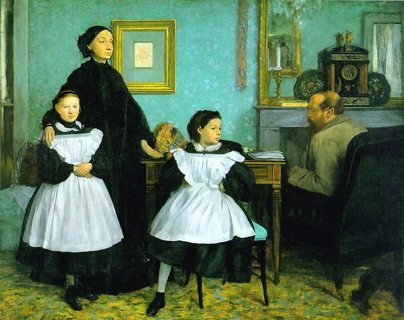 Belleli Family. Edgar Degas