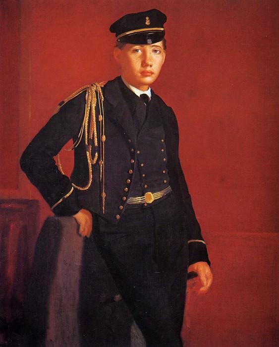Achille De Gas in the Uniform of a Cadet. Edgar Degas