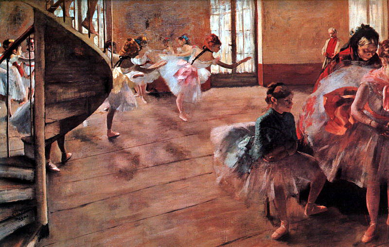 The Rehearsal. Edgar Degas