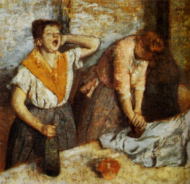 Woman Ironing. Edgar Degas