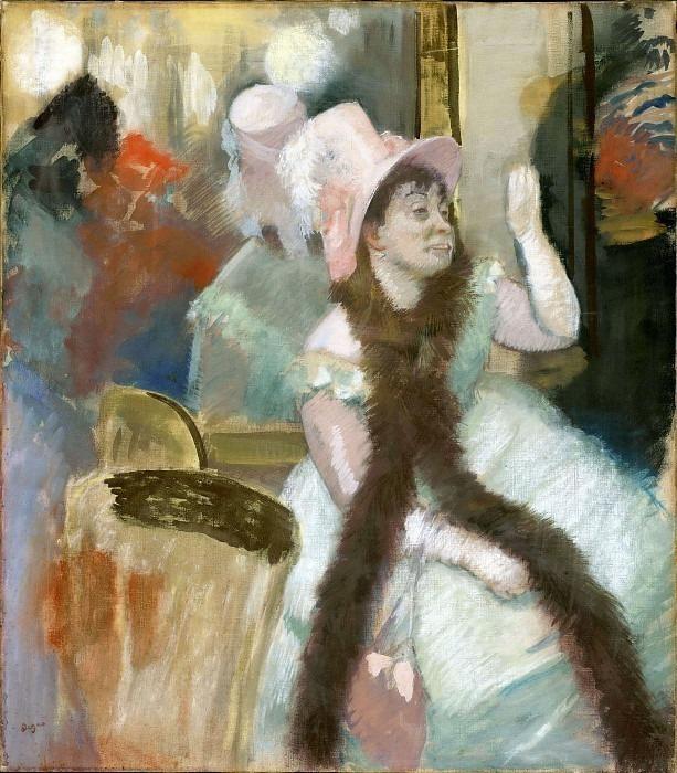 Portrait after a Costume Ball Portrait of Madame Dietz-Monnin CGF. Edgar Degas