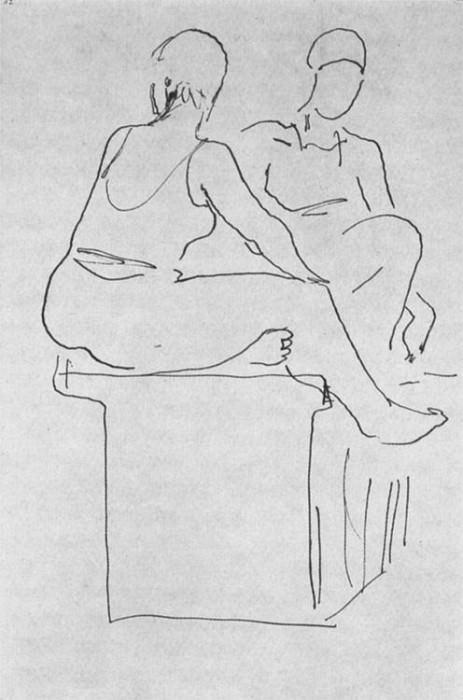 1934 from the Crimean sketches. B., ink, pen. 25, 2x17, 5 MHS 7. Alexander Deyneka