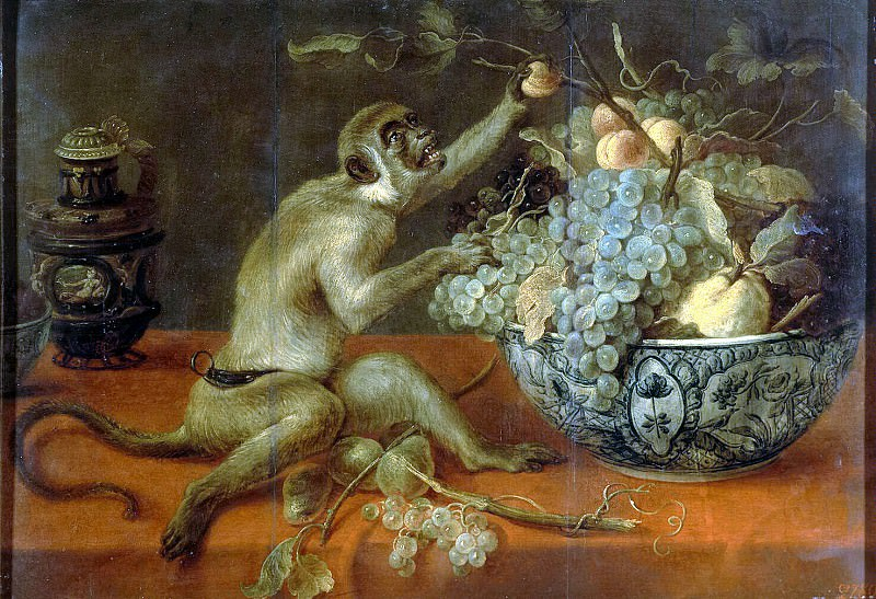 Snyders, Frans. Still life with monkey. Hermitage ~ part 11