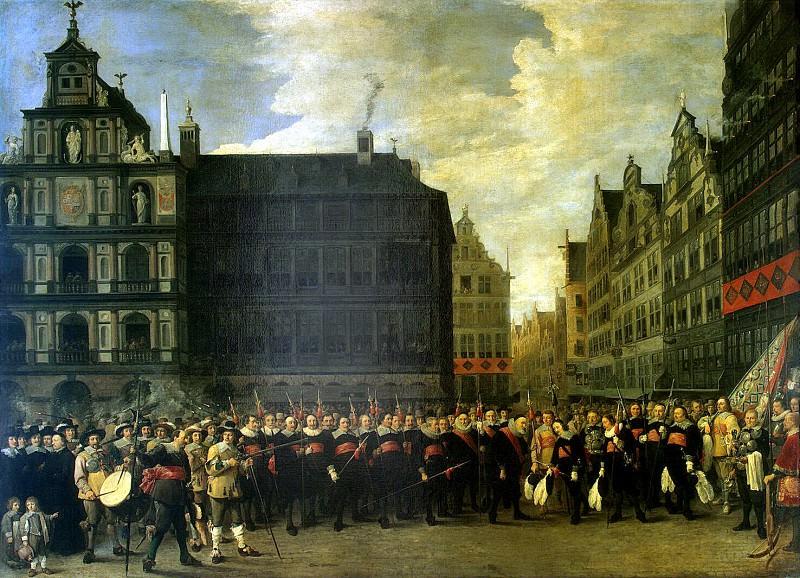 Тенирс, Давид Младший - Групповой портрет членов стрелковой гильдии Oude Voetboog в Антверпене. Эрмитаж ~ часть 11