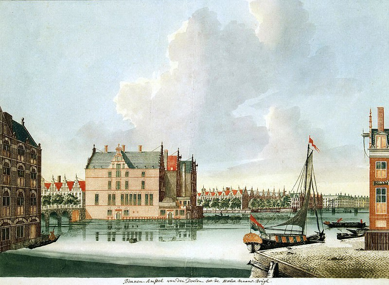 Tayler, Johannes. View of the river Amstel. Hermitage ~ part 11