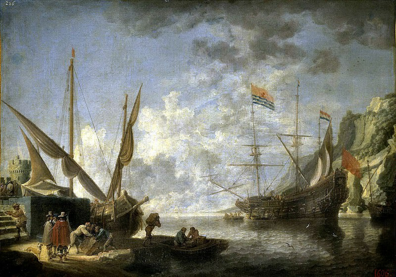 Teniers, David the Younger. Maritime port. Hermitage ~ part 11