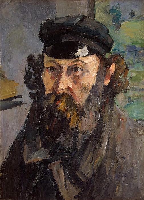 Cezanne, Paul. Self-Portrait in cap. Hermitage ~ part 11