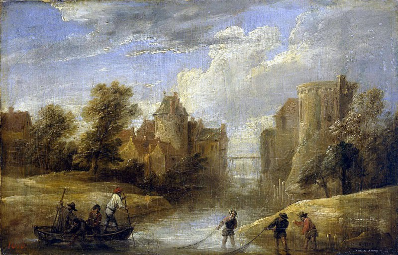 Teniers, David the Younger. Landscape with fishermen. Hermitage ~ part 11
