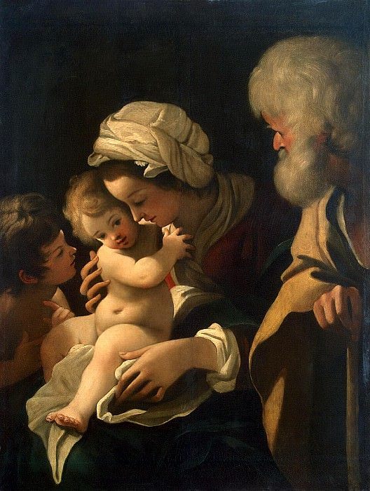 Skidone, Bartolomeo. The Holy Family with John the Baptist. Hermitage ~ part 11