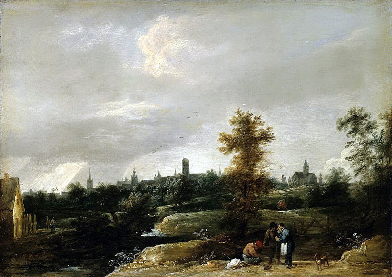 Teniers, David the Younger. View neighborhoods in Brussels. Hermitage ~ part 11