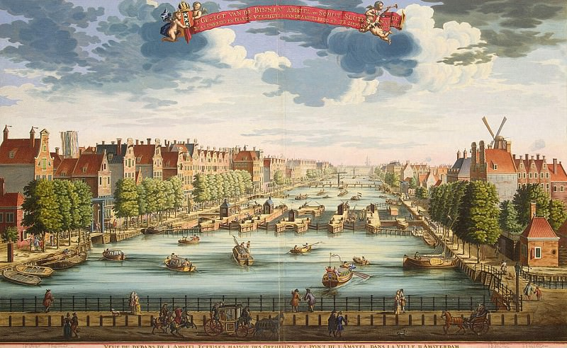 Stopendal, Daniel. View of Amsterdam with a bridge over the river Amstel and the building of an orphanage. Hermitage ~ part 11