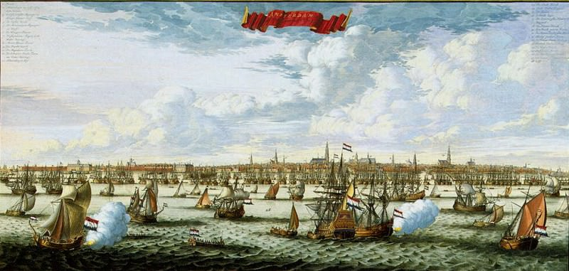 Stopendal, Daniel. Panorama and the plan of Amsterdam from the Gulf Hey. Hermitage ~ part 11