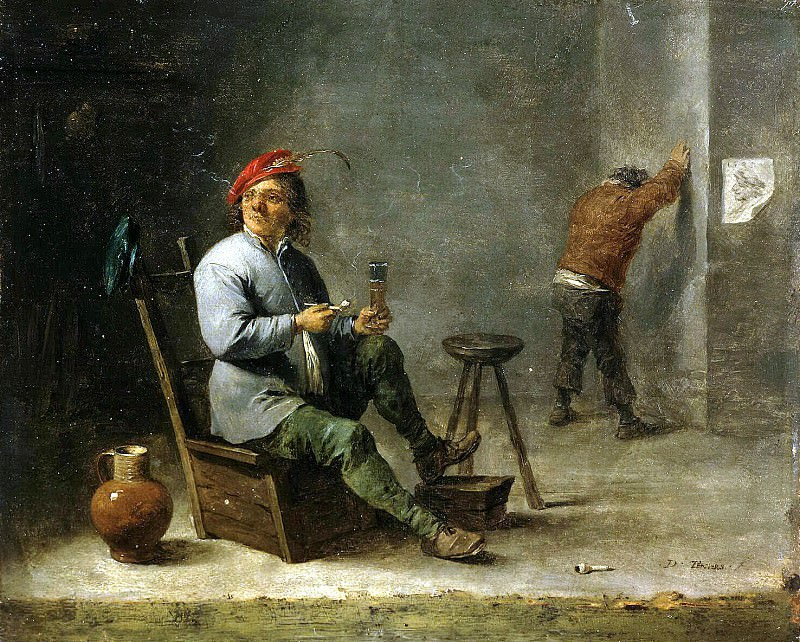Teniers, David the Younger. Smoker. Hermitage ~ part 11