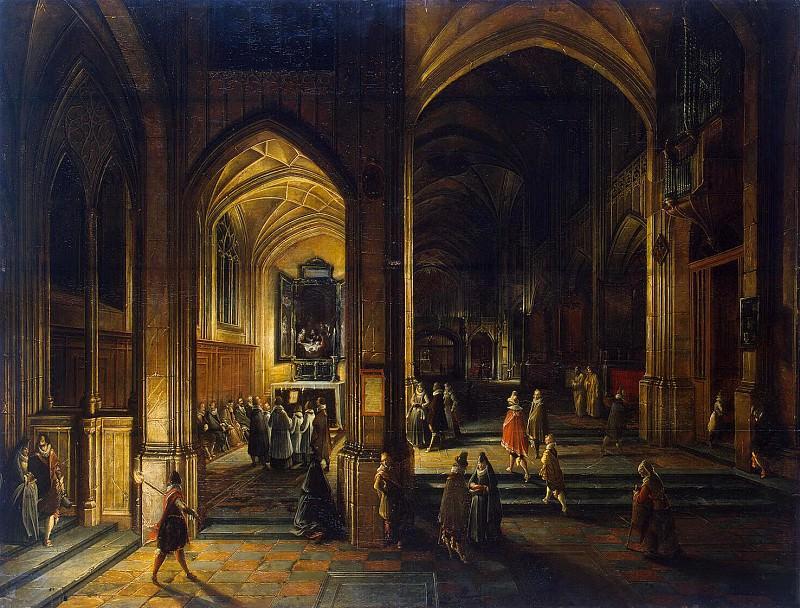 Stenveyk, Hendrick van the Younger. Interior of a Gothic church (3). Hermitage ~ part 11