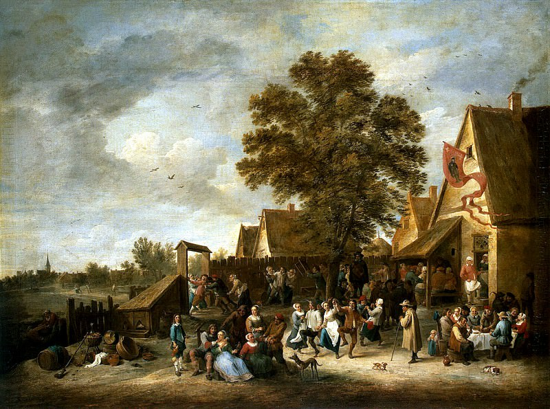 Teniers, David the Younger. Village Festival (2). Hermitage ~ part 11