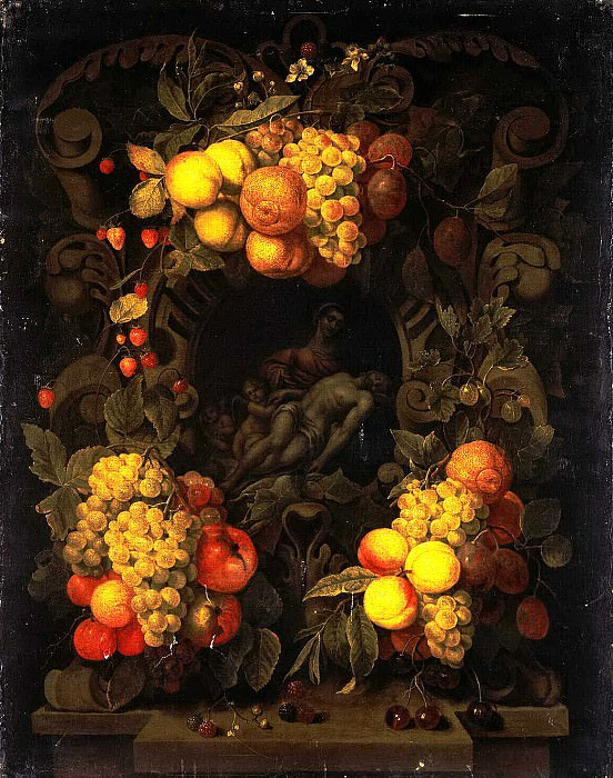 Son, Joris van. Lamentation of Christ, surrounded by a garland of fruit. Hermitage ~ part 11