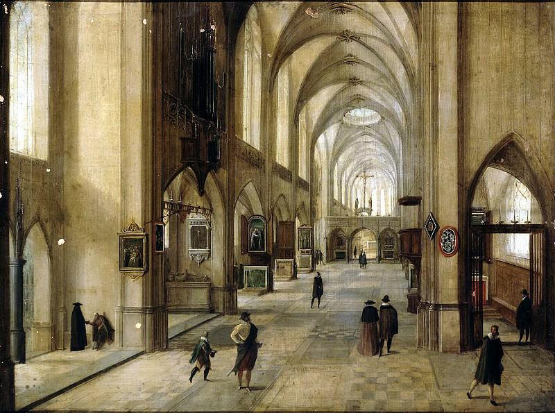 Stenveyk, Hendrick van the Younger. Interior of a Gothic church. Hermitage ~ part 11