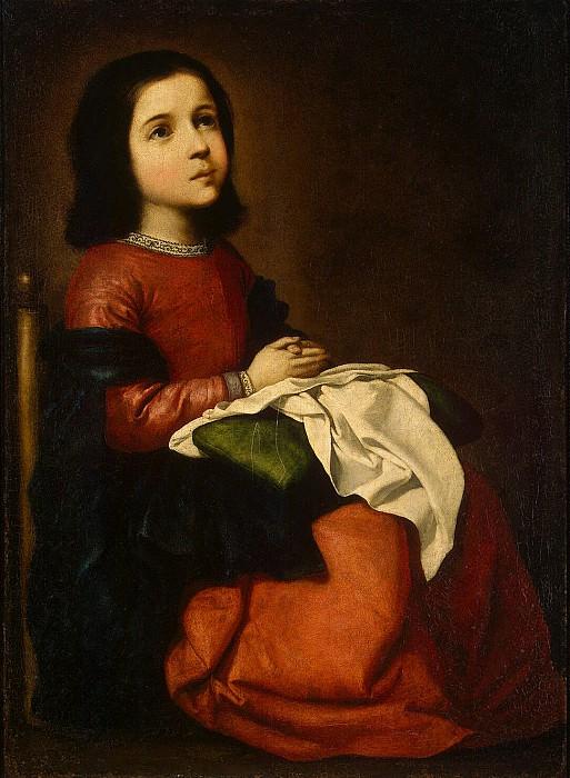 Zurbaran Francisco. Adolescence Dame. Hermitage ~ part 11
