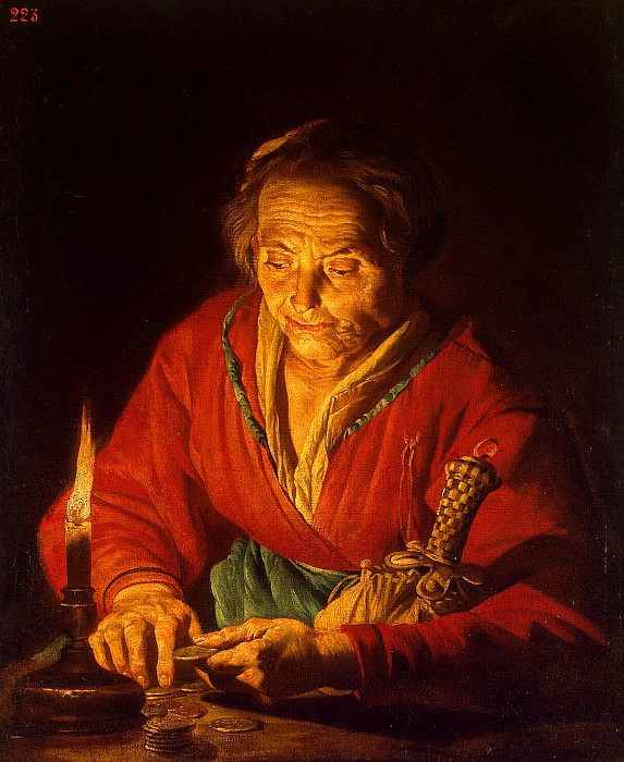 Stomer, Mathias. Old woman with a candle. Hermitage ~ part 11