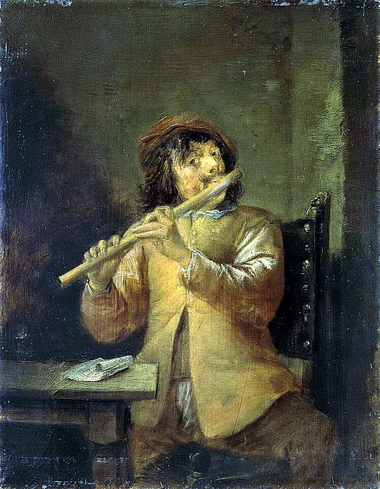 Teniers, David the Younger. Flutist. Hermitage ~ part 11