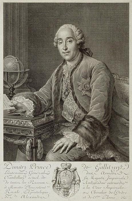 Tardieu, Pierre Alexandre. Portrait of Prince Dmitry Golitsyn. Hermitage ~ part 11
