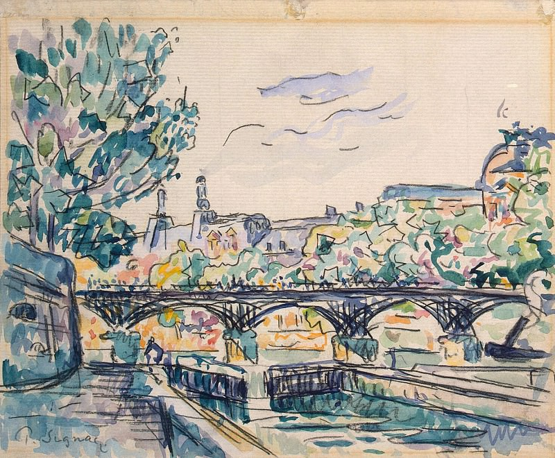 Signac, Paul. River Seine near the Pont des Arts with a view of the Louvre. Hermitage ~ part 11