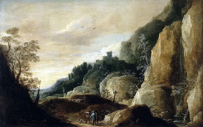 Teniers, David the Younger. Mountain landscape. Hermitage ~ part 11