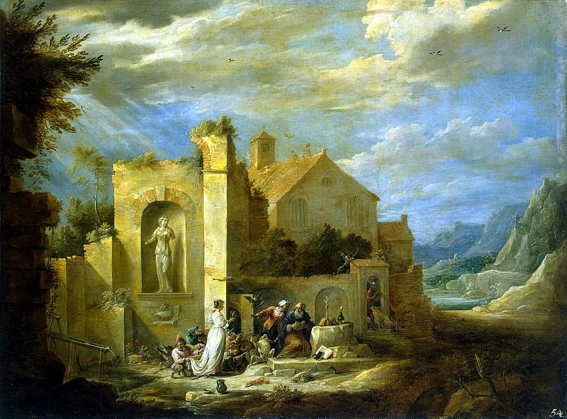 Teniers, David the Younger. Temptation of St. Anthony. Hermitage ~ part 11