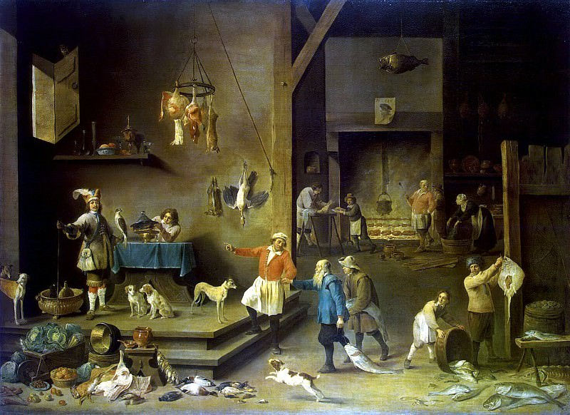 Teniers, David the Younger. Kitchen. Hermitage ~ part 11