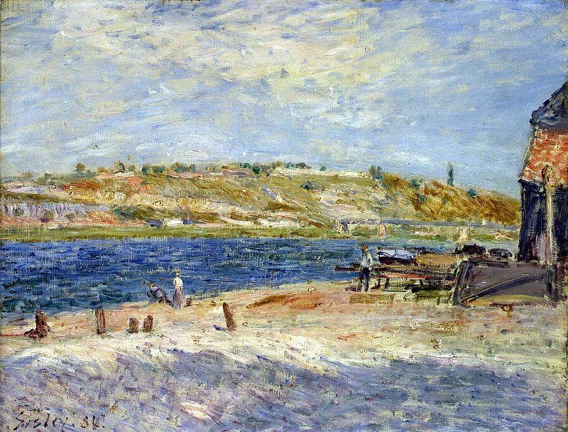 Sisley, Alfred. The shore of the river in Saint-Mammese. Hermitage ~ part 11
