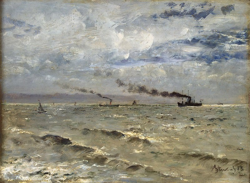 Stevens, Alfred. The sea with ships. Hermitage ~ part 11
