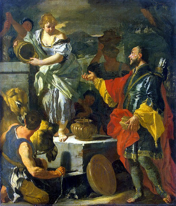 Solimena, Francesco. Rebekah at the Well. Hermitage ~ part 11