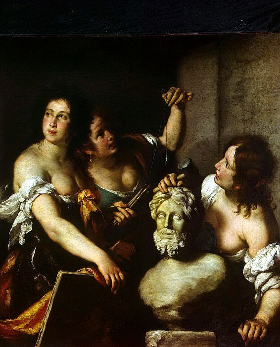 Strozzi, Bernardo. Allegory of the Arts. Hermitage ~ part 11